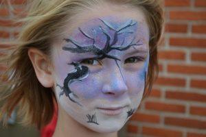 Heks og Landskab - Halloween Ansigtsmaling