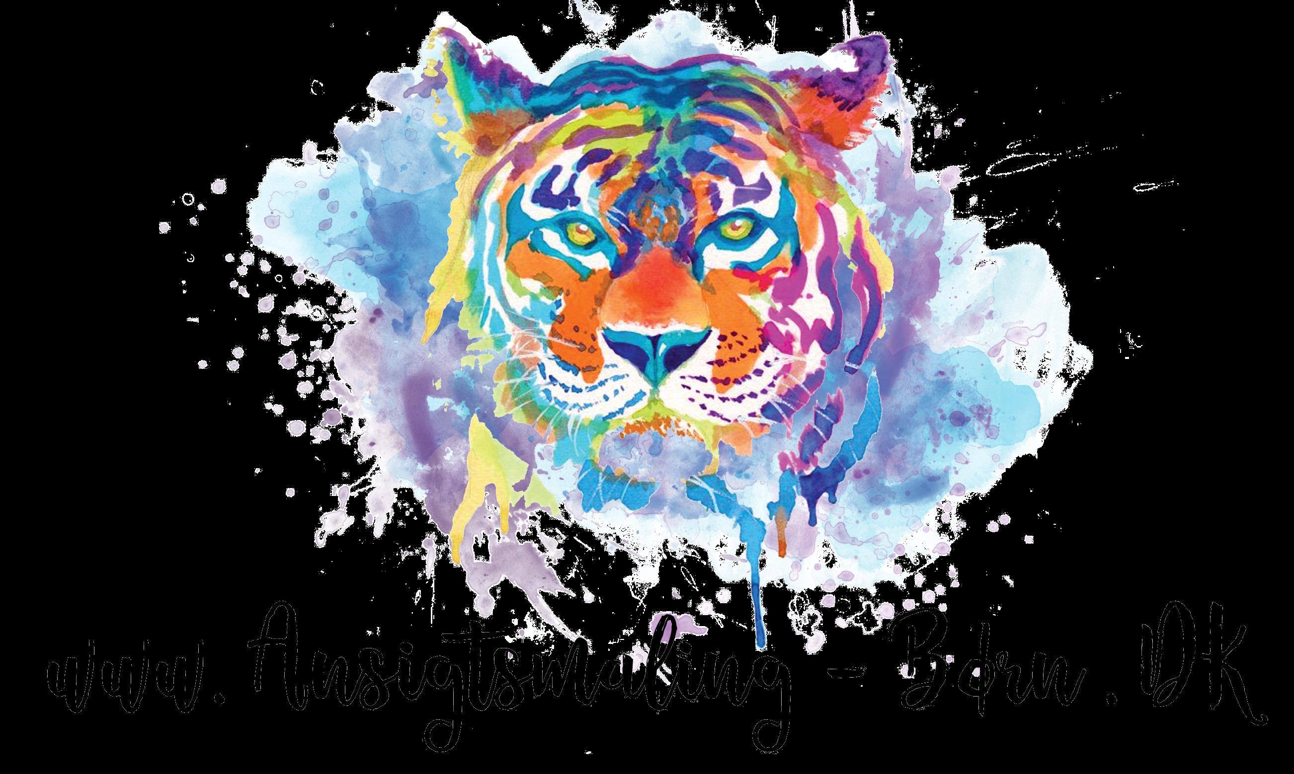 ansigt malet som tiger
