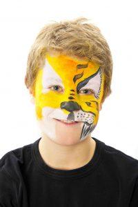 Tiger Ansigtsmaling - Step 2
