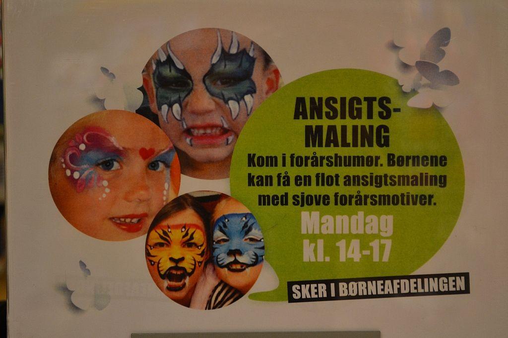 Ansigtsmaler i Magasin København