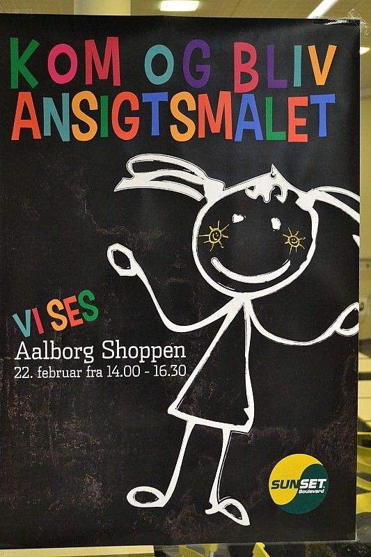 Ansigtsmaling for SUNSET I Aalborg