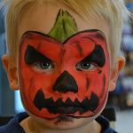 Græskar - Halloween Ansigtsmaling